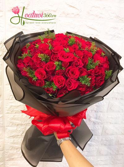 Bó hồng đỏ- Thương mãi ngàn năm