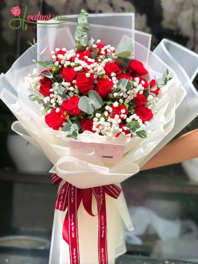 Bó hồng đỏ - Yêu em nồng say