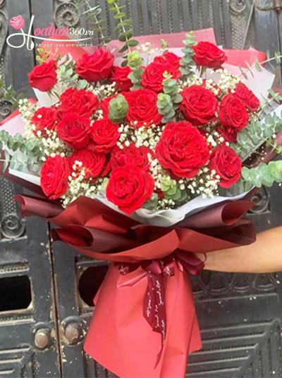 Bó hồng Ecuador - Born to love