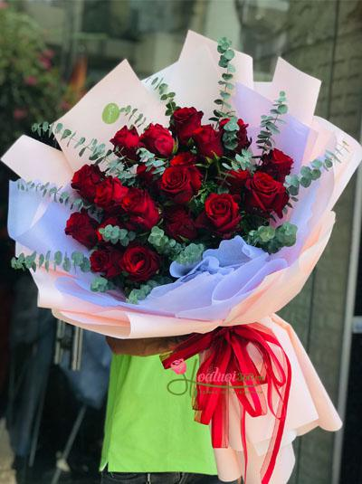 Bó hồng Ecuador đỏ - Lời yêu thương