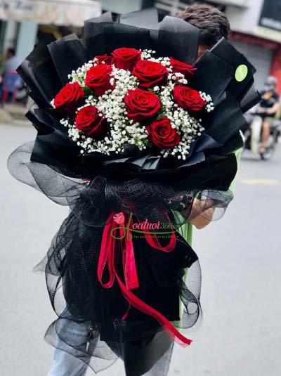 Bó hồng Ecuador đỏ - Ngàn lời yêu