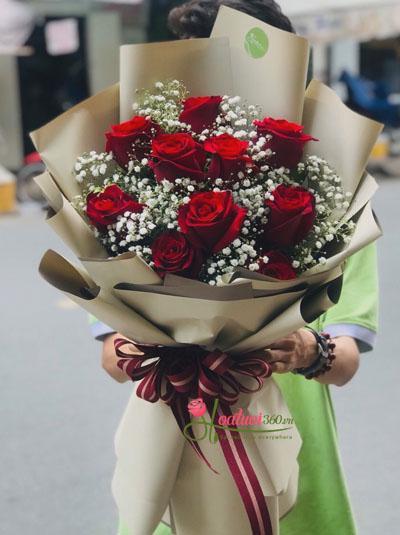 Bó hồng Ecuador đỏ - Rực cháy yêu thương