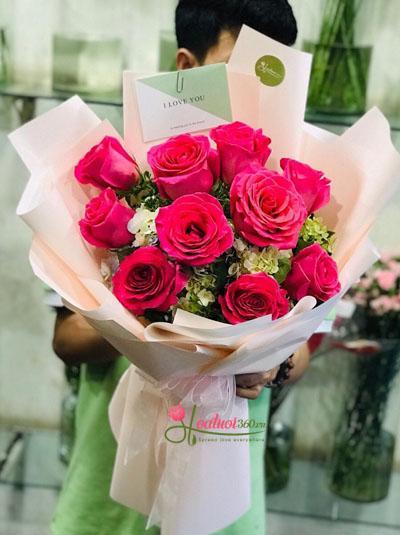 Bó hồng Ecuador hồng nhạt- Nụ cười thiên thần