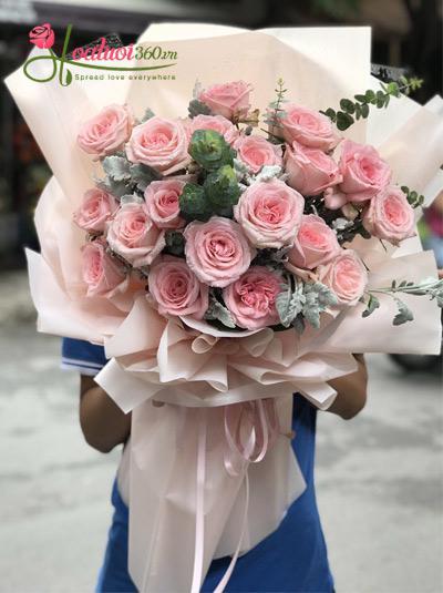 Bó hồng Ohara - Diu dàng sắc hồng