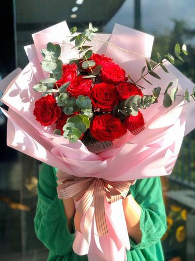 Bó hồng ohara đỏ đẹp xinh