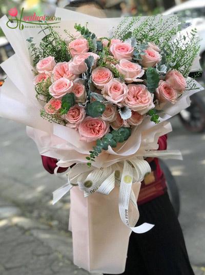 Bó hồng Ohara tươi thắm