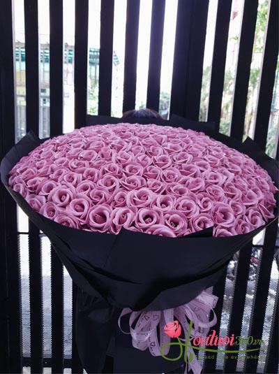 Bó hồng sáp hồng tây - Chỉ cần em vui