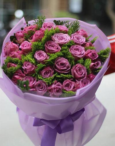 Bó hồng tím đẹp nhất