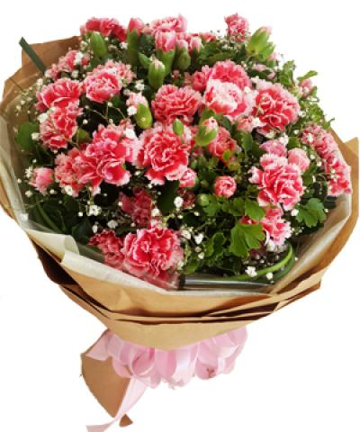 Bó hoa cẩm chướng quyến rũ dành chúc mừng sinh nhật mẹ