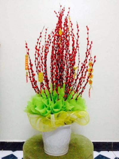 Bình hoa tầm xuân - Cung chúc tân niên