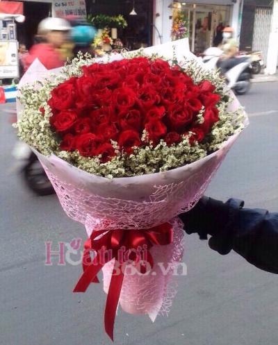 Bó hoa hồng đạm thể hiện người đẹp kiêu kì