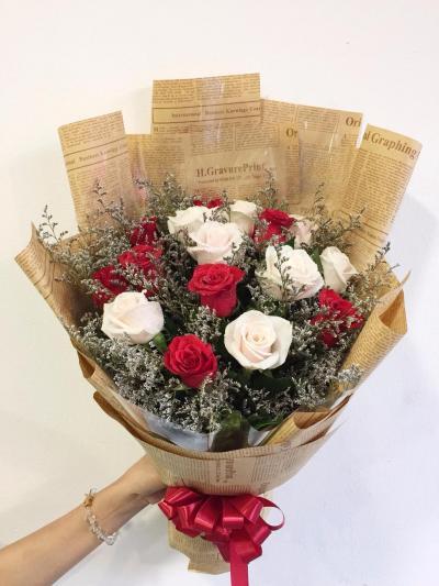 Bó hoa hồng đỏ dành tặng sinh nhật bạn trai thể hiện tình yêu sâu sắc