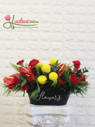 Giỏ hoa chúc mừng - Sắc màu