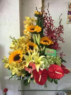Giỏ hoa chúc mừng 1