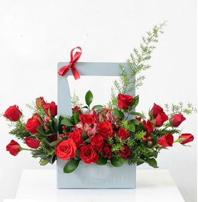 Giỏ hoa phong cách Hàn Quốc