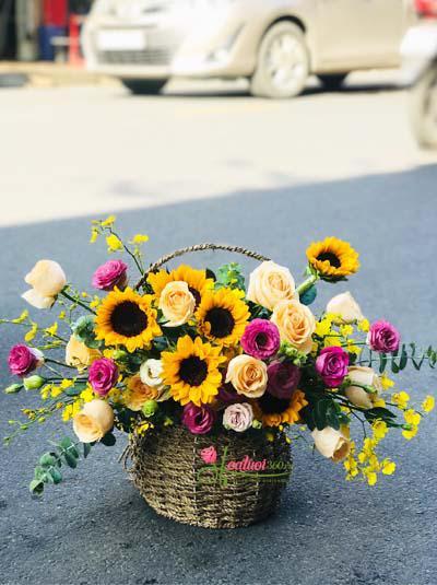 Giỏ hoa xinh xắn được ưa chuộng nhất