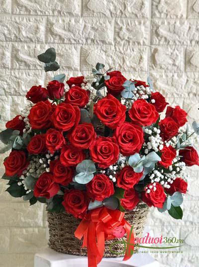 Giỏ hồng đỏ đẹp nhất