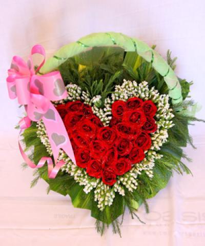 hoa song hỷ làm hoa ngày valentine