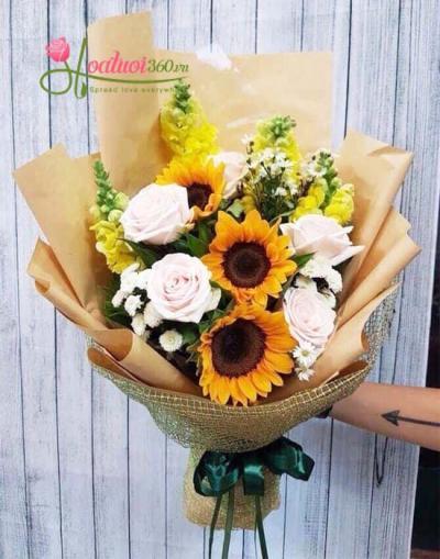 Hoa bó tặng ngày 20-10