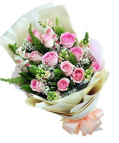 Hoa bó - Hồng dâu xinh xắn