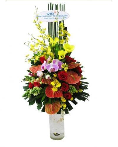 Hoa cắm bình 12_Hoa tươi 360