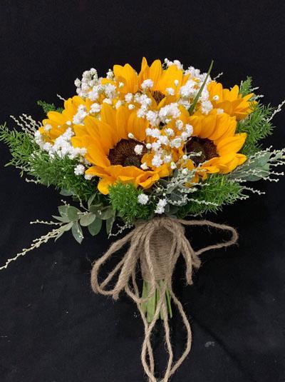 Hoa cầm tay cô dâu - Hướng dương tỏa nắng