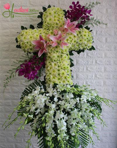 Hoa chia buồn thánh giá