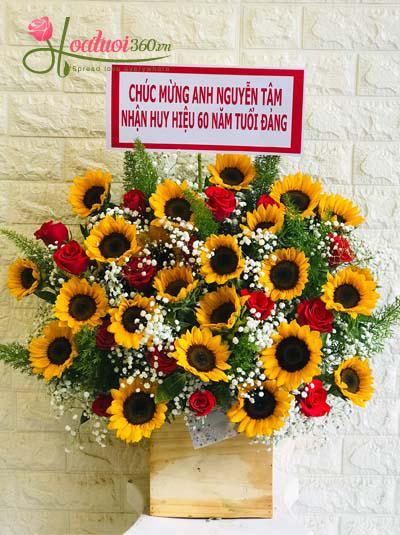 Hoa chúc mừng - Hướng dương tỏa nắng