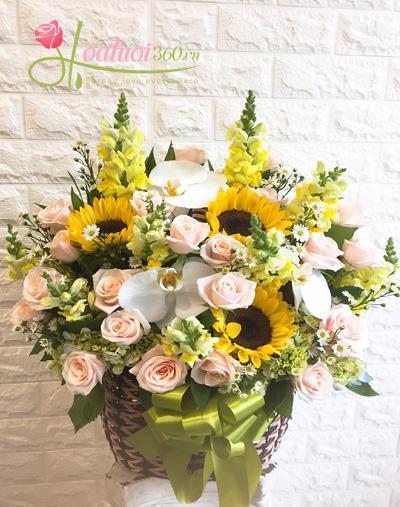 Hoa giỏ chúc mừng: chuyển trọn yêu thương