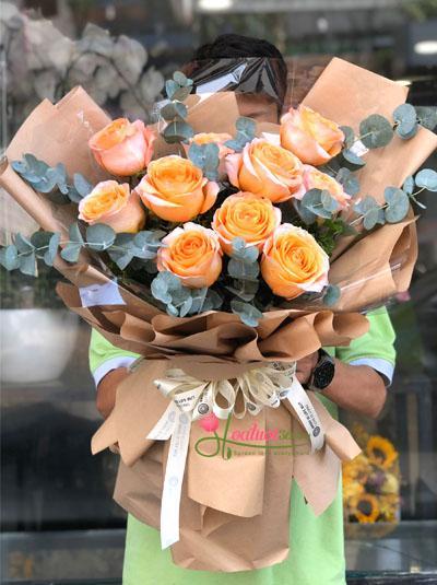 Hoa hồng cam Ecuador - Nắng hè rực rỡ