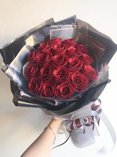 Hoa hồng sáp - Bó hồng đỏ em đẹp nhất đêm nay
