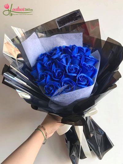 Hoa hồng sáp - Bó hồng xanh đẹp nhất
