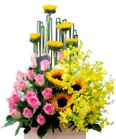 Hộp hoa chúc mừng 8-3
