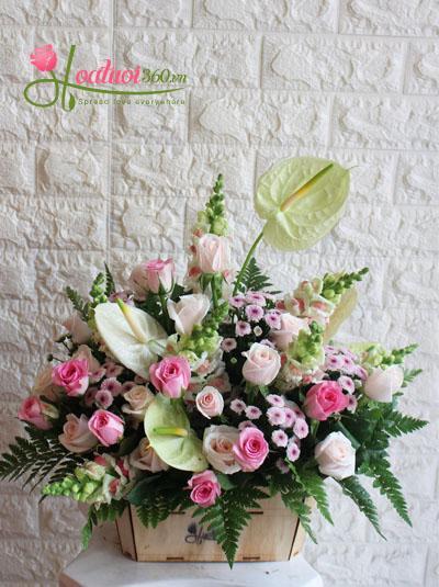 Hoa hộp gỗ- Điều giản đơn
