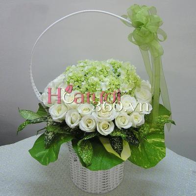 Hoa màu trắng 03_Hoa Tươi 360