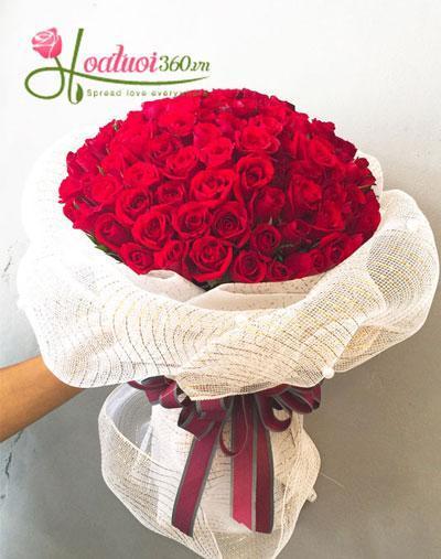 Hoa sinh nhật - Bó hoa tươi đẹp Có nhau trọn đời