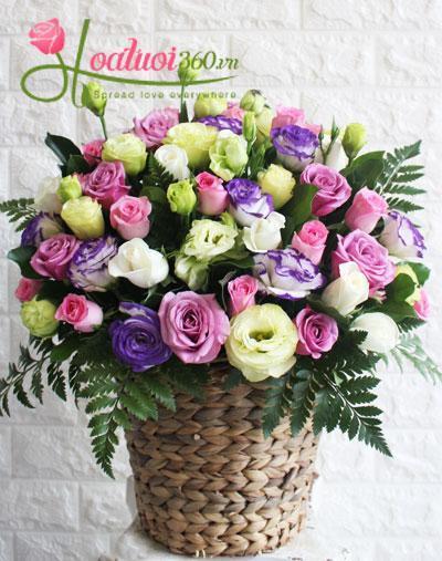 Hoa sinh nhật - Mẫu hoa sinh nhật đốn tim bạn gái