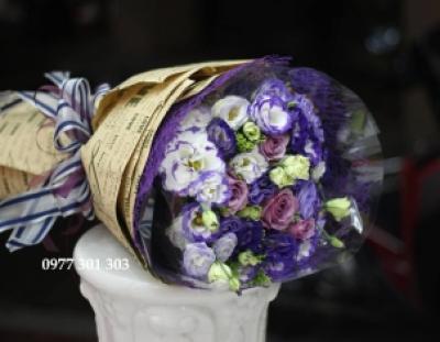 Bó hoa tone  tím