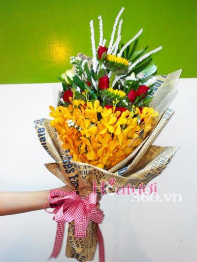 Bó hoa thành công rực rỡ