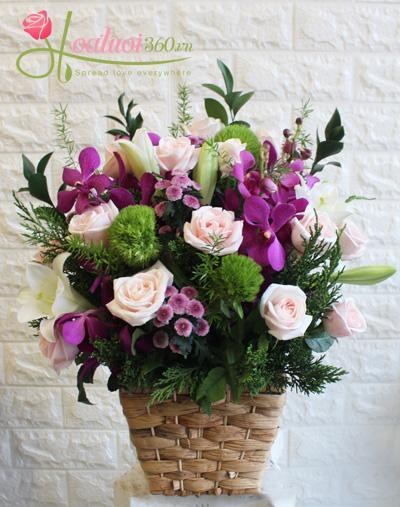 Hộp hoa chúc mừng- Điều tuyệt vời nhất
