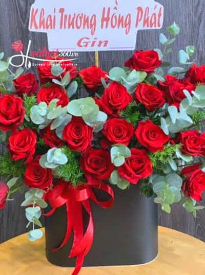 Hộp hoa hồng đỏ - Khoe sắc thắm