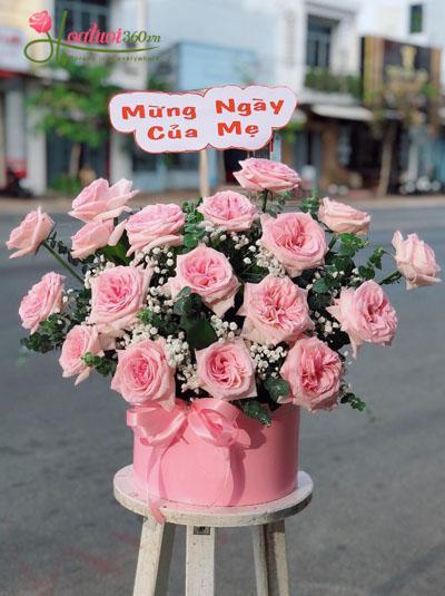 Hộp hoa hồng Ohara dễ thương