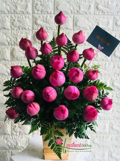 Hộp hoa sen - Kính tặng