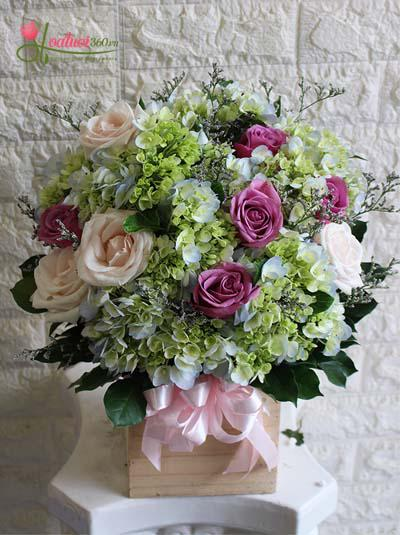 Hộp hoa tươi - Nhớ ơn thầy cô
