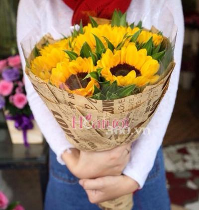 Bó hoa hướng dương xinh