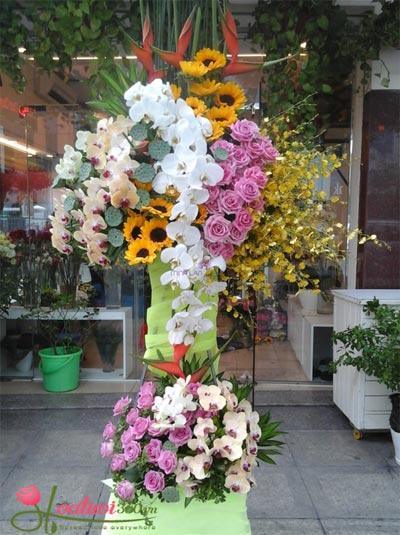 Kệ hoa chúc mừng tất niên - Thịnh Phát