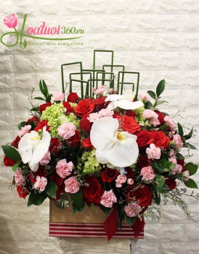 Lẵng hoa đẹp- Hoa chúc mừng