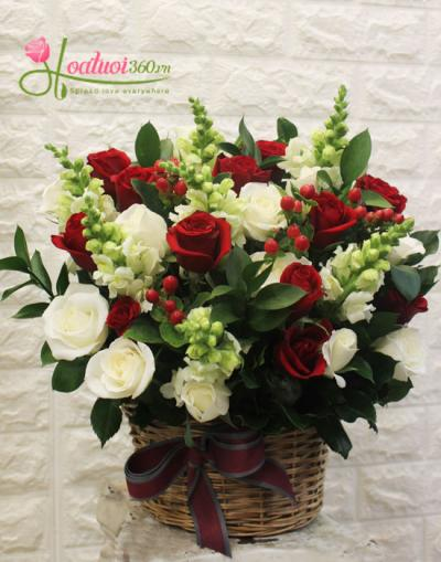 Lẵng hoa đẹp- Tấm lòng thành