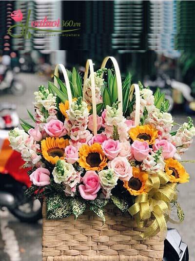 Mẫu hoa chúc mừng đẹp nhất