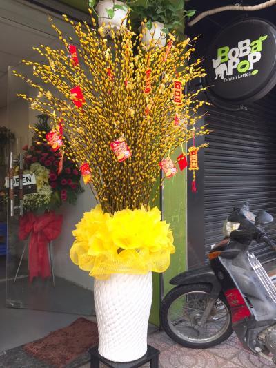 Bình hoa tầm xuân - Mùa xuân của em